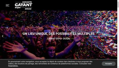 Site internet de Gayant Expo