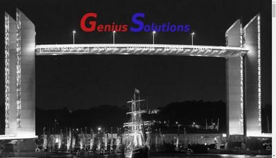 Site internet de Genius Solutions