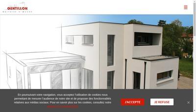 Site internet de Gentillon Maitrise d'Oeuvre