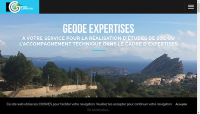 Site internet de Geode-Expertises