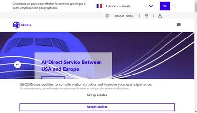 Site internet de Geodis Logistics Services