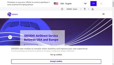 Site internet de Geodis Freight Forwarding