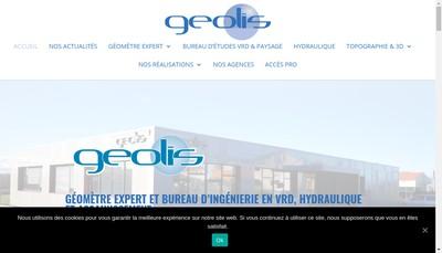 Site internet de Geolis