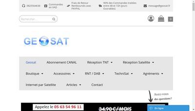 Site internet de Geosat