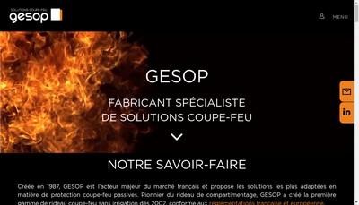 Site internet de Gesop