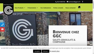 Site internet de Galets Granulats et Cie
