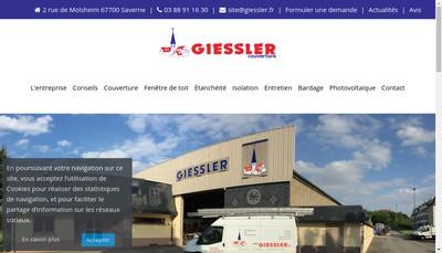 Site internet de Giessler Couverture