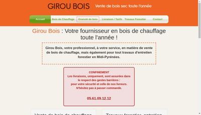 Site internet de Girou Bois