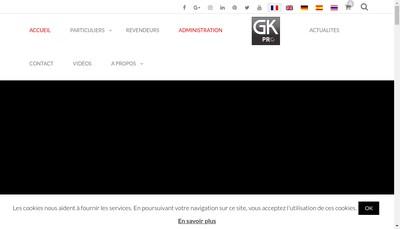 Site internet de Gk Pro Uniform