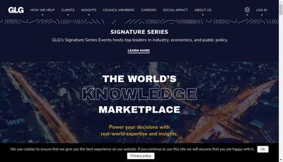 Site internet de Glg