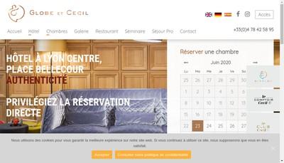 Site internet de Globe et Cecil Hotel