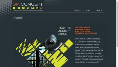 Site internet de Gm Concept