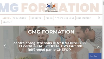 Site internet de Gmg Formation