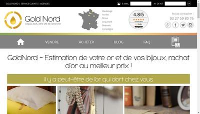 Site internet de Gold Nord