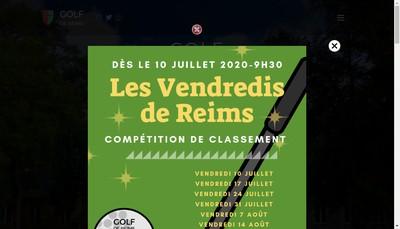 Site internet de Societe du Golf de Reims