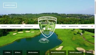 Site internet de Societe du Golf de Saint Donat