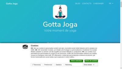 Site internet de Gotta Joga
