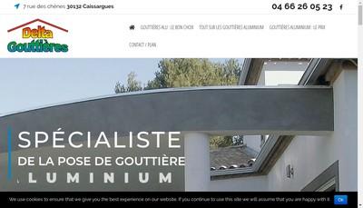 Site internet de Delta Gouttieres