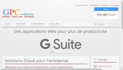 Site internet de Gpc Solutions - Ema Tech