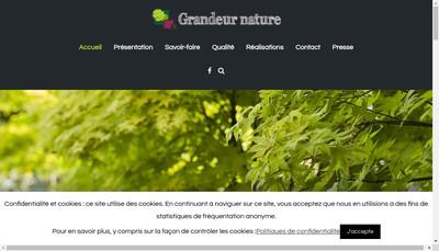 Site internet de Grandeur Nature