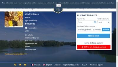 Site internet de Lac du Grand Fontenay
