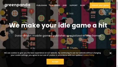 Site internet de Green Panda Games