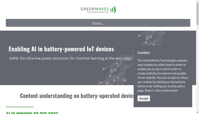 Site internet de Greenwaves Technologies