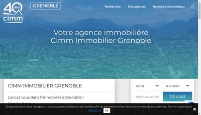 Site internet de Cimm Immobilier