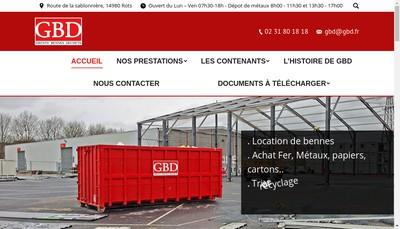 Site internet de Gbd