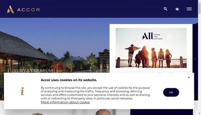 Site internet de Accor