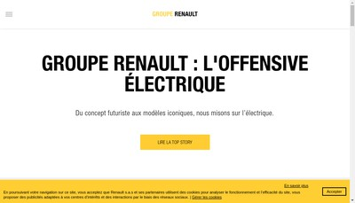 Site internet de Renault SAS