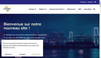 Site internet de Ceme - Ace