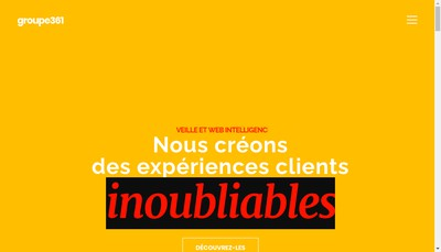 Site internet de Groupe 361