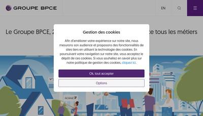 Site internet de Bpce Assurances