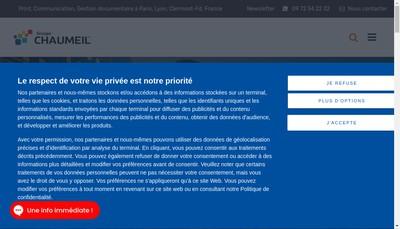 Site internet de Chaumeil Rhone Alpes