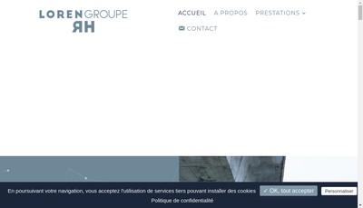 Site internet de Groupe Loren