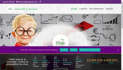 Site internet de Groupe Mab