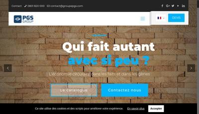 Site internet de Unibois Pgs