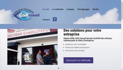 Site internet de Gsa Conseil