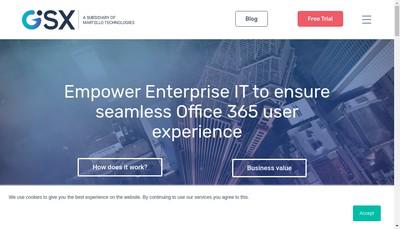Site internet de Gsx Groupware Solutions