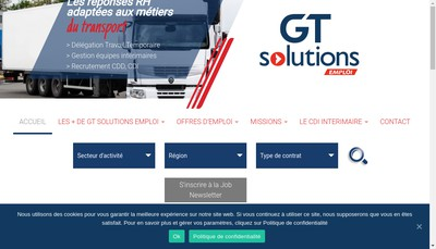 Site internet de Gt Solution