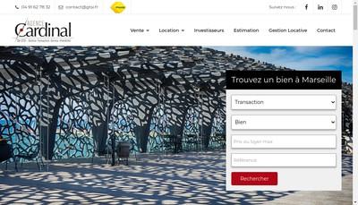 Site internet de Agence Cardinal