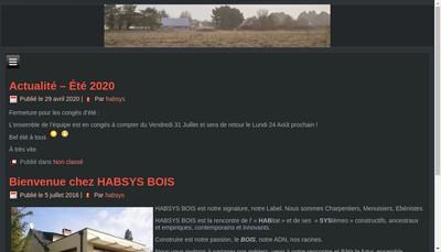 Site internet de Habsys Bois