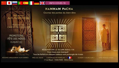 Site internet de Hammam Pacha
