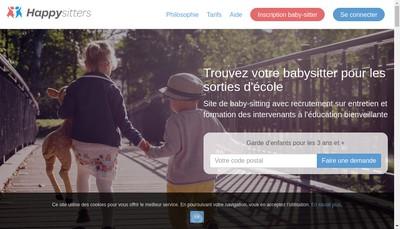 Site internet de Happysitters