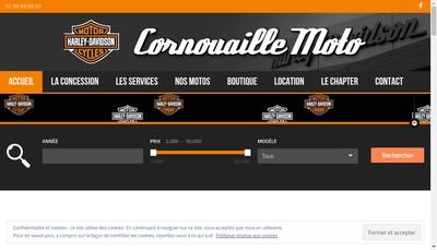 Site internet de Cornouaille Moto