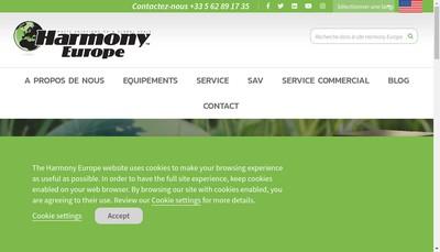 Site internet de Harmony Europe