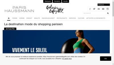 Site internet de Galeries Lafayette Haussmann - Gl Haussmann