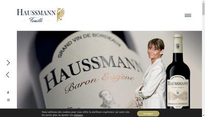 Site internet de Haussmann Famille