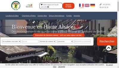 Site internet de Destination Haute-Alsace